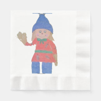 Cute Fall Scarecrow Disposable Serviette