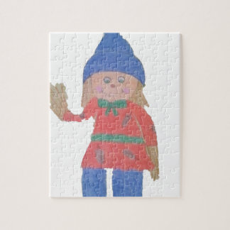 Cute Fall Scarecrow Jigsaw Puzzle