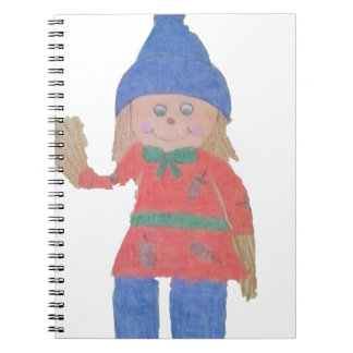 Cute Fall Scarecrow Notebook