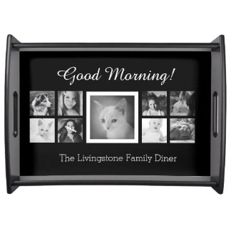 Cute Family Diner Custom Photos and Text Serving Tray
