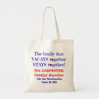 Cute Family Reunion Totes, Red White & Blue