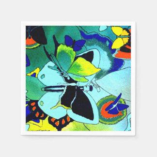 Cute Fancy Butterfly Collage Multi-Color Designed Disposable Serviette