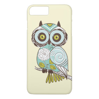 Cute Fancy Retro Groovy Owl Custom iPhone 8 Plus/7 Plus Case