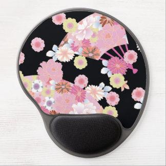 Cute Fans & Flowers Japanese Floral Fine Art Gel Mouse Pad