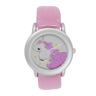 Cute fantasy unicorn with stars wrist watches