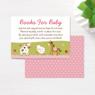 Cute Farm Animal Book Request Cards