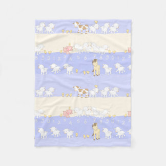 Cute Farm Animals Fleece Blanket
