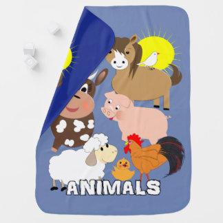 Cute Farm Animals Kids Whimsy fun Design Buggy Blanket