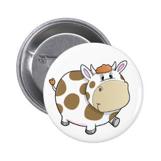 Cute Farm Cow Button