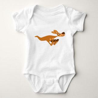 Cute Fast Cartoon Kangaroo Baby Apparel Baby Bodysuit