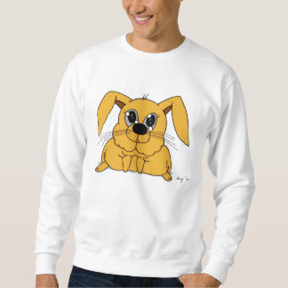Cute Fat Bunny Mens Sweatshirt