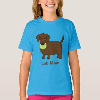Cute Fat Chocolate Labrador Retriever Lab Mom T-Shirt