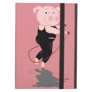Cute Fat Pig Skipping iPad Air Case