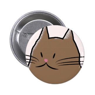 Cute Fatty Cat 6 Cm Round Badge