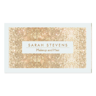 Cute FAUX Gold Sequin Makeup and Hair Pack Of Standard Business Cards