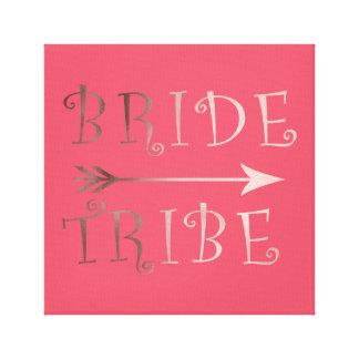 cute faux rose gold foil bride tribe design canvas print