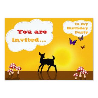 Cute Fawn - Birthday Invitation Card for Kids