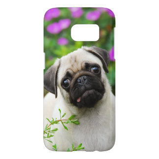 Cute Fawn Colored Pug Puppy Dog Portrait Phonecase