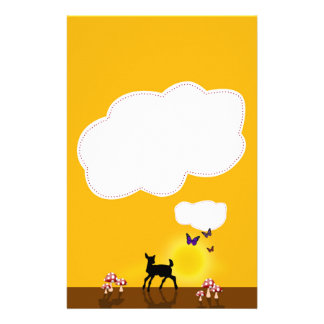 Cute Fawn Illustration - Stationery Letterhead