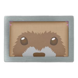 cute ferret face belt buckle