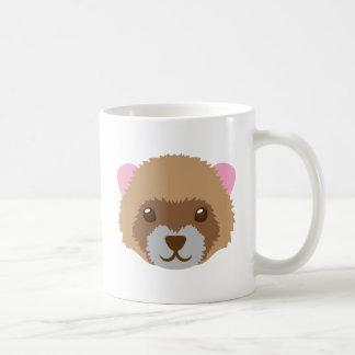 cute ferret face coffee mug