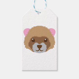 cute ferret face gift tags