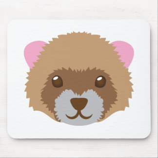 cute ferret face mouse pad
