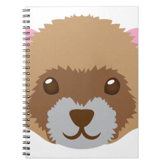 cute ferret face notebook