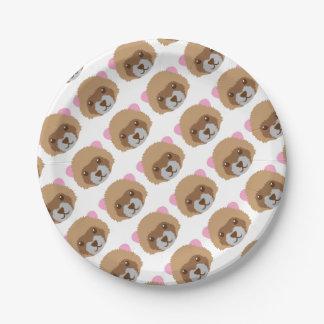 cute ferret face paper plate