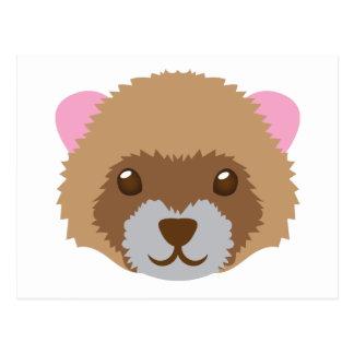 cute ferret face postcard