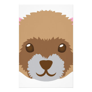 cute ferret face stationery