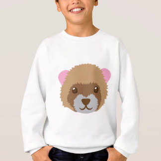cute ferret face sweatshirt