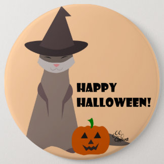 Cute Ferret Halloween Button