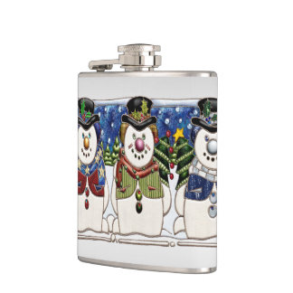 Cute Festive Snowmen Flasks