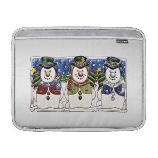 Cute Festive Snowmen MacBook Air Sleeves