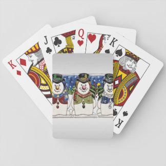 Cute Festive Snowmen Poker Deck