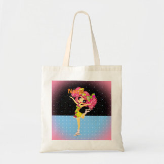 Cute Figure Skater Iceskating girl personalized Tote Bag