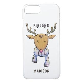 Cute Finland Reindeer custom name phone cases