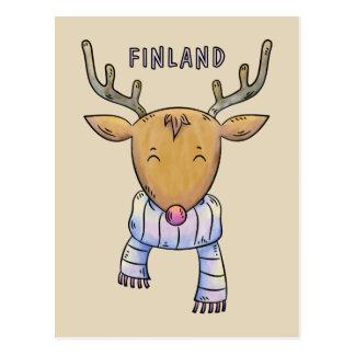 Cute Finland Reindeer postcard