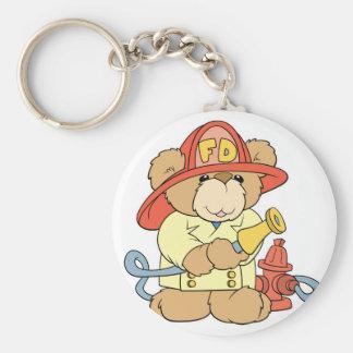 Cute Fireman Firefighter Bear Keychains