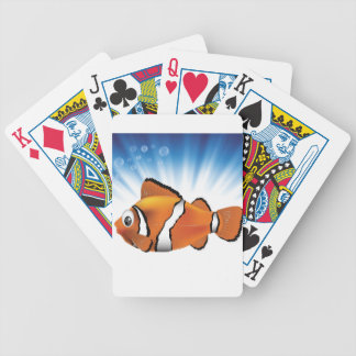 Cute fish bicycle playing cards