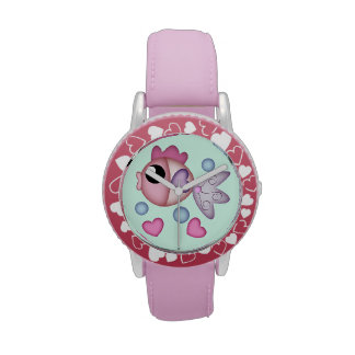 Cute Fish, bubbles and Hearts Kid's watch