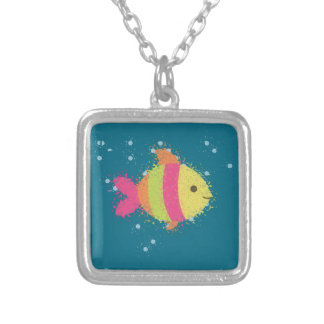 Cute Fish Cartoon Silver Plated Necklace
