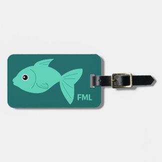 Cute Fish custom luggage tag