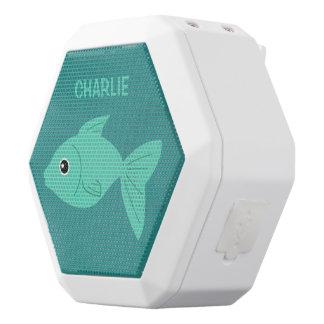 Cute Fish custom monogram bluetooth speaker