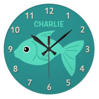 Cute Fish custom wall clock