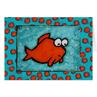 cute fish with bubbles card