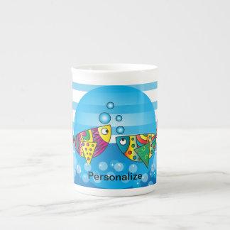 Cute Fishy Bubbles Tea Cup