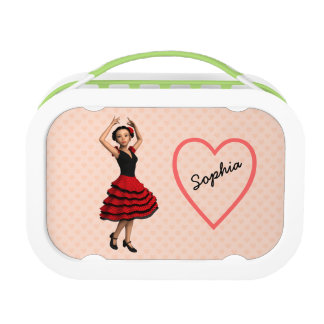 Cute Flamenco Dancer (Personalized) Lunchboxes