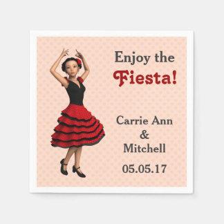 Cute Flamenco Dancer (Personalized) Paper Serviettes